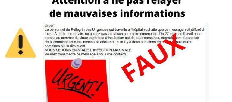 Coronavirus : le CHU de Bordeaux dément une info relayée sur les réseaux sociaux