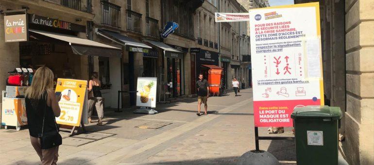 Bordeaux tombe le masque dans les rues commerçantes