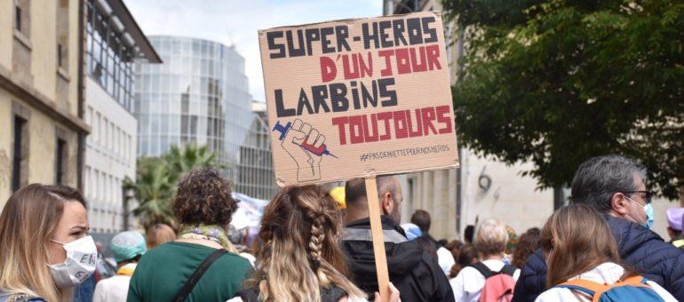 Manifestation des soignants : «Nous sommes des pros, pas des héros»