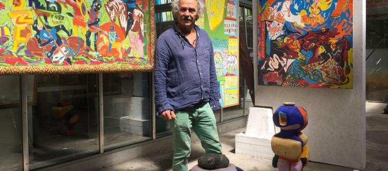 Nous avons croisé Isidore Krapo et vu l'expo sur ses «40 ans de vie d'artiste»