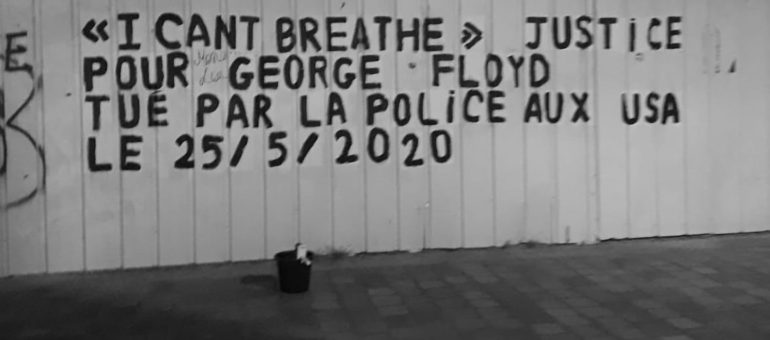 Soutien à George Floyd : des colleuses féministes  arrêtées par la police à Bordeaux