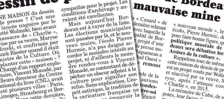 Maison du dessin de presse : «Bordeaux avait un projet très solide»