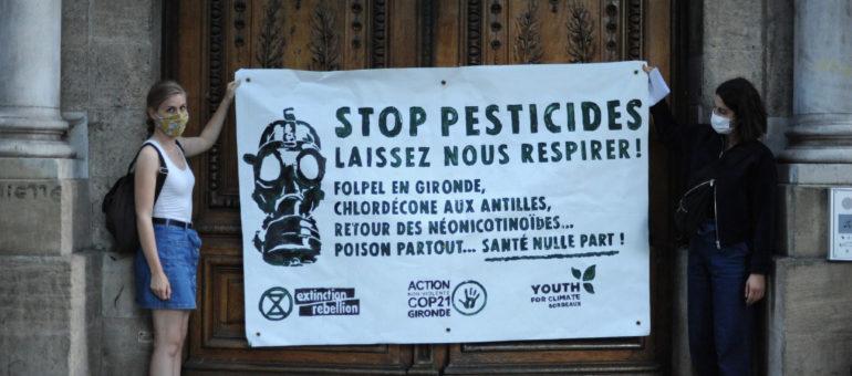 Devant les écoles, des écologistes dénoncent la «menace sanitaire» des pesticides en Gironde