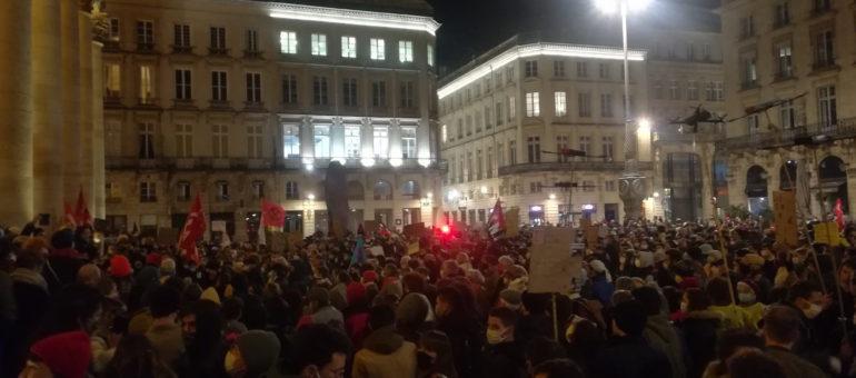 1500 manifestants contre la loi Sécurité Globale à Bordeaux