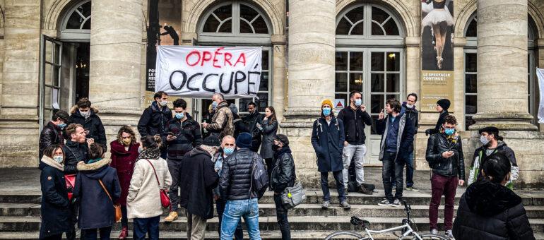 L'Opéra de Bordeaux occupé, la «culture des luttes» en scène