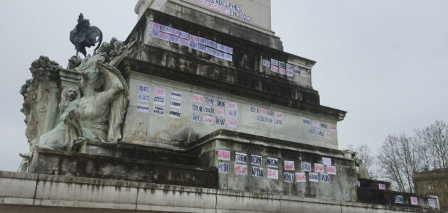 Le monument aux Girondins transformé en mémorial des féminicides 2020