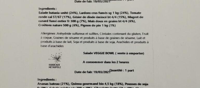 Gauche quinoa et droite landaise au menu de Bordeaux Métro-bowl