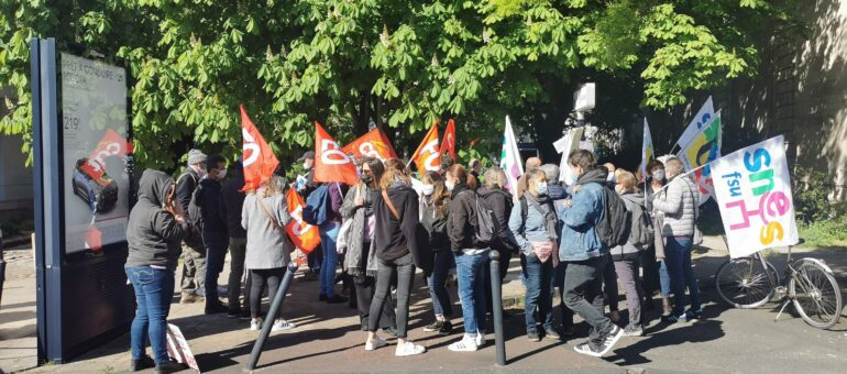 Rassemblement des AESH à Bordeaux : « On pallie les manques de l'Education nationale »