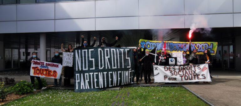 Les intermittents ont occupé Pôle emploi Nouvelle-Aquitaine à Bordeaux