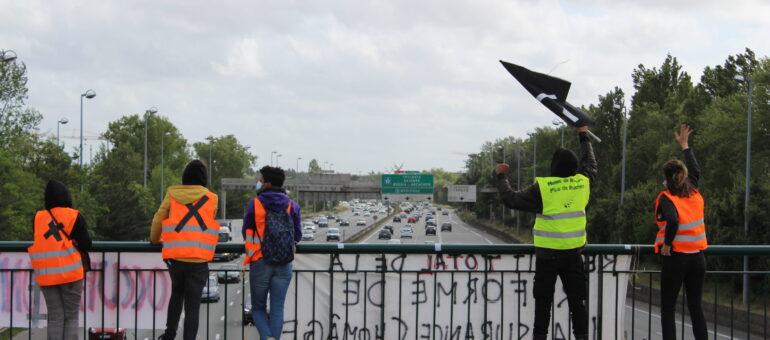 Bordeaux Occupation 2021 sur le pont contre la réforme de l'assurance chômage