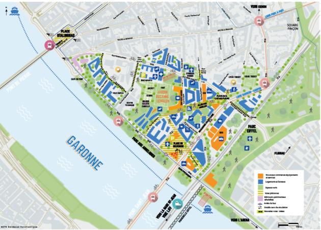 Plan du quartier Deschamps Belvédère