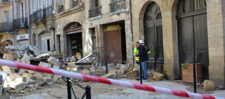 Effondrement d'immeubles à Bordeaux : le retour à la normale sera long rue de la Rousselle