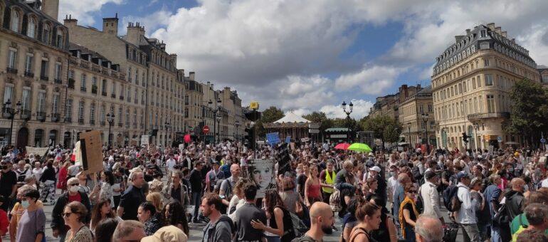 Qui sont les anti-pass sanitaire mobilisés à Bordeaux ?