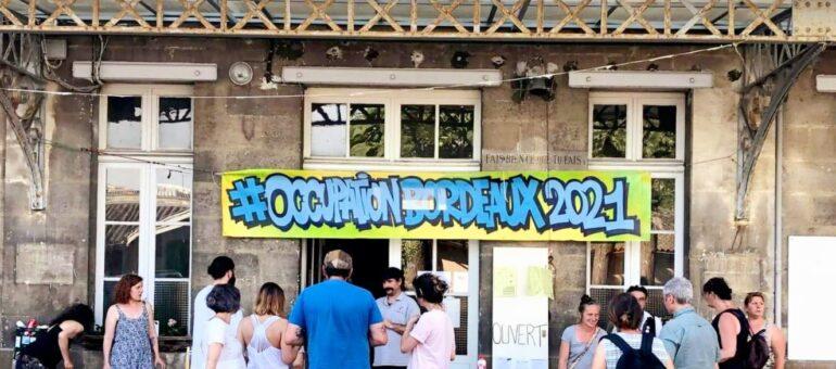Occupation Bordeaux 2021 doit quitter l'ancien collège Fieffé