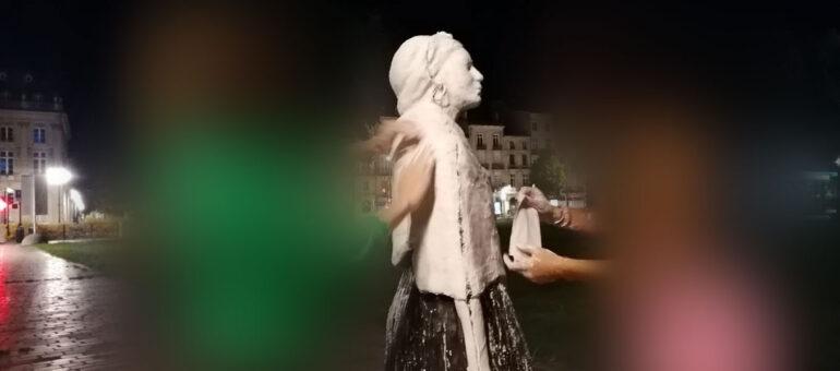Vandalisme de la statue de Modeste Testas : un moulage par un étudiant en art